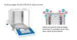 Analysevægt med høj læsbarhed og ionisator