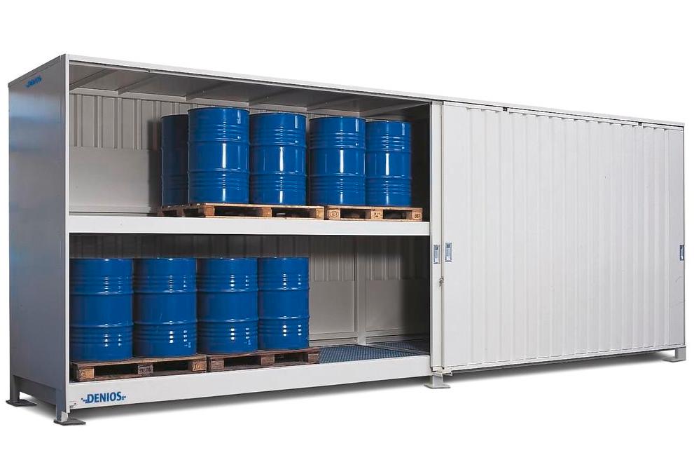 Systemcontainer til 48 tromler