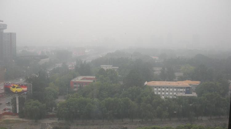 Sådan så luften i den kinesiske hovedstad ud i december 2016. Her var luften 40 gange mere forurenet end luften var på H.C. Andersens Boulevard i København
