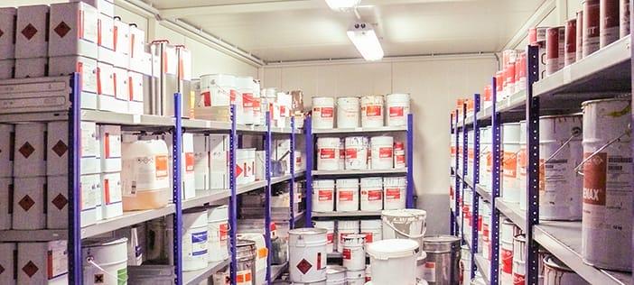 Lakdoserings- og lagerrum - Case study fra DENIOS